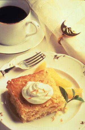 gâteau rustique de polenta au miel - tout sur le miel sur gourmetpedia