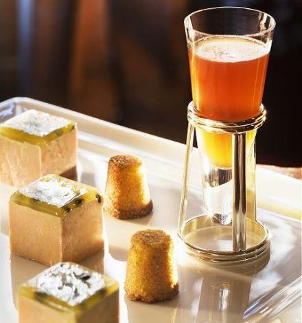 Cubes de foie gras de canard aux graines de passion for Restaurant michel rostang