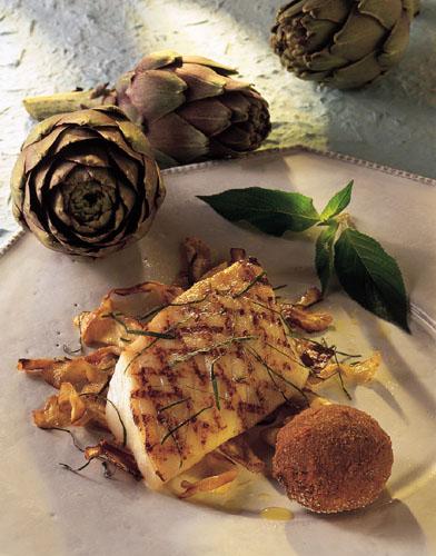 Turbot grill aux artichauts huil s l 39 infusion de sauge ananas conseils et recettes de - Recette de turbot grille ...